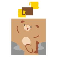 ジャンプするクマ