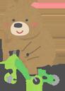 自転車に乗るクマ