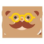 眼鏡をかけたクマ