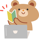 パソコンとクマ